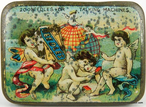 CHERUBS Gramophone Needle Tin  **EARLY 1900's**