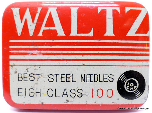 WALTZ Gramophone Needle Tin - SMALL 100 SIZE