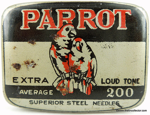 PARROT Gramophone Needle Tin - 200 size LOUD TONE