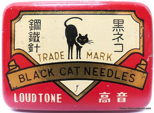 BLACK CAT Gramophone Needle Tin - LARGE 500 SIZE