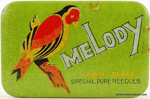 MELODY Gramophone Needle Tin