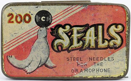 SEALS Gramophone Needle Tin