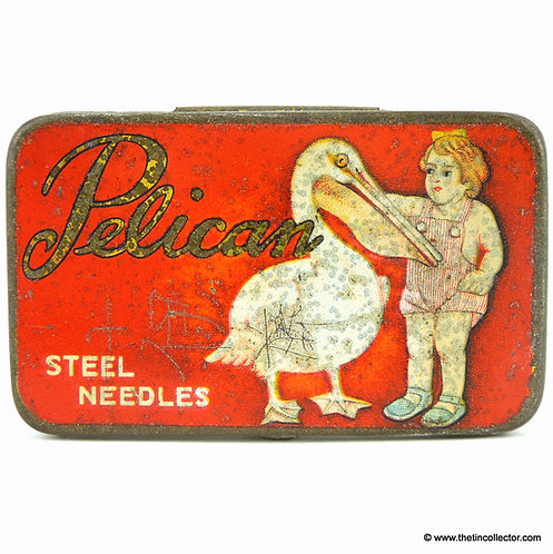 PELICAN Gramophone Needle Tin