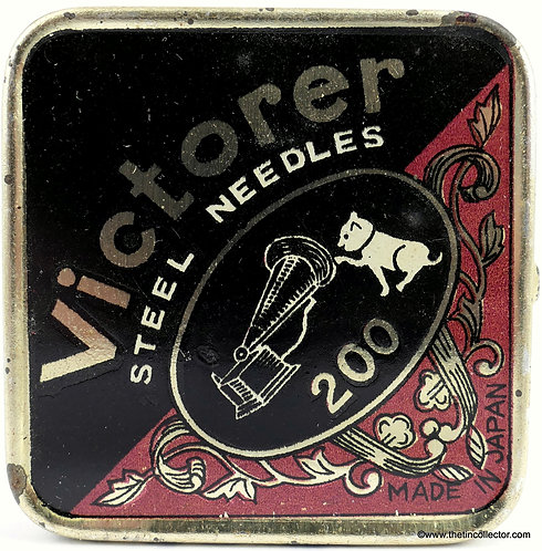 VICTORER gramophone needle tin