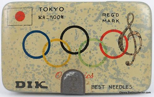 DIK Gramophone Needle Tin - 1940 Tokyo Olympics
