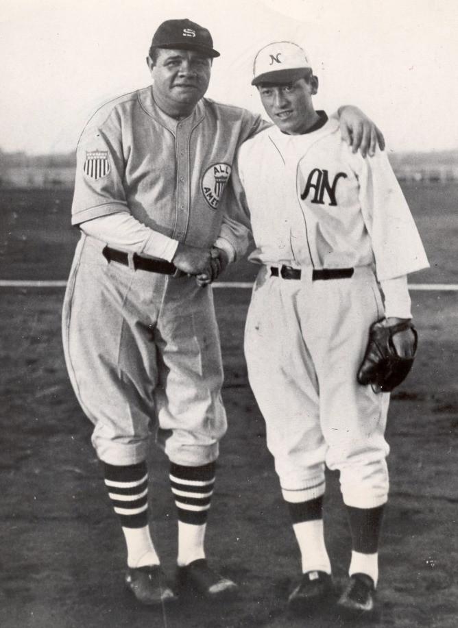 Babe Ruth & Eiji Sawamura - 1934 All Stars