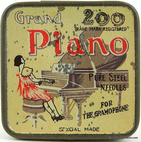 PIANO Gramophone Needle Tin