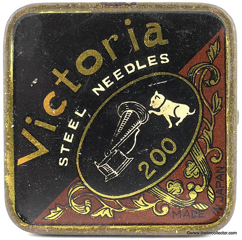 VICTORIA gramophone needle tin