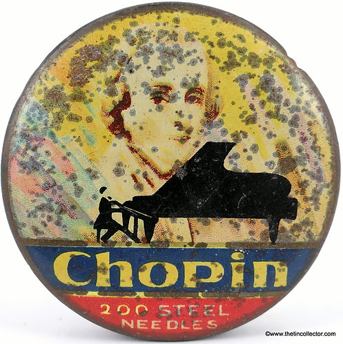CHOPIN Gramophone Needle Tin