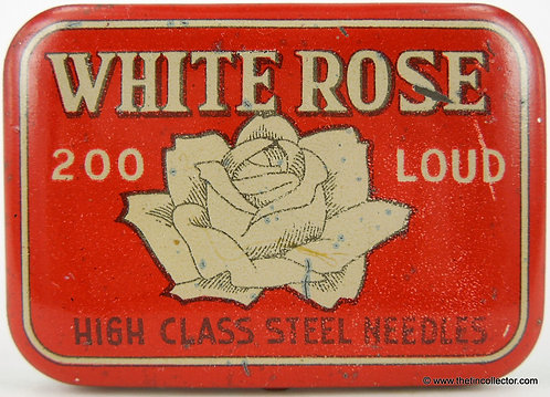 WHITE ROSE Needle Tin (Made in Occupied Japan)