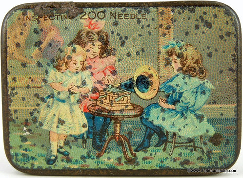 Early 1900's Anonymous Gramophone Needle Tin