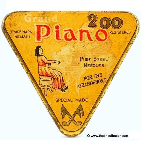 PIANO Gramophone Needle Tin (Long Dress Version)