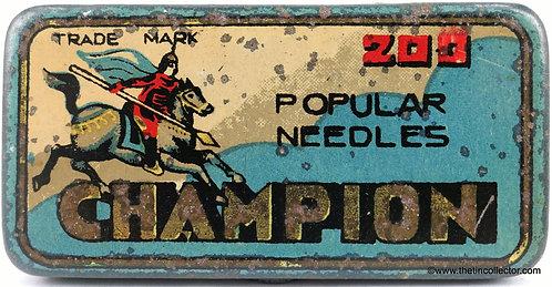 CHAMPION Gramophone Needle Tin