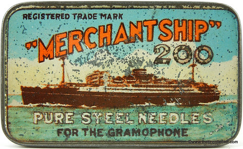 MERCHANT SHIP Gramophone Needle Tin