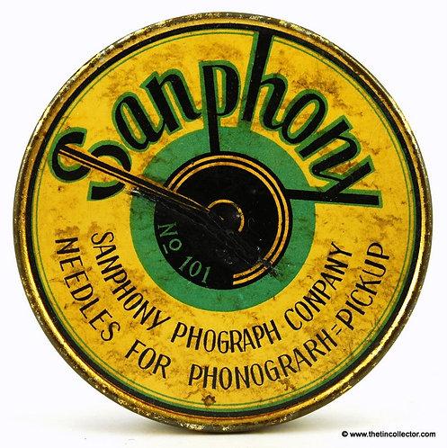 Large SANPHONY Gramophone Needle Tin