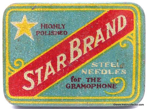 STAR BRAND Gramophone Needle Tin