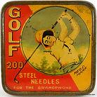 GOLF Gramophone Needle Tin
