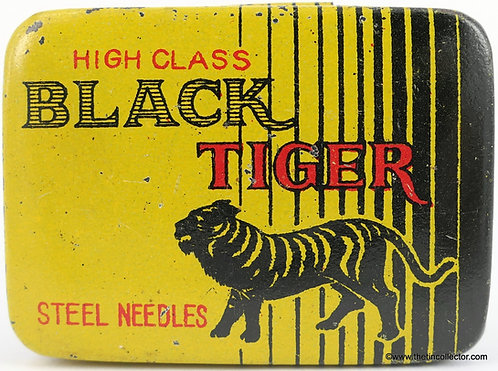 BLACK TIGER Gramophone Needle Tin