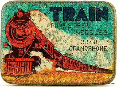 TRAIN Gramophone Needle Tin