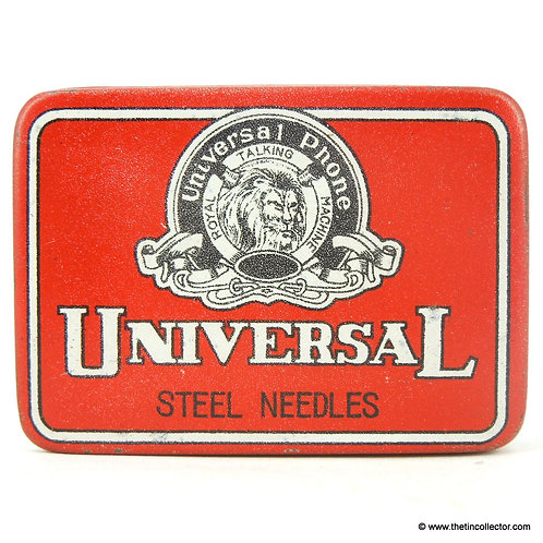UNIVERSAL PHONE Gramophone Needle Tin