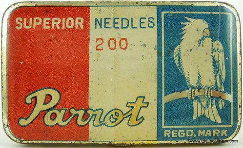 PARROT Gramophone Needle Tin - Striped Version