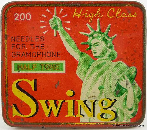 SWING High Class Gramophone Needle Tin