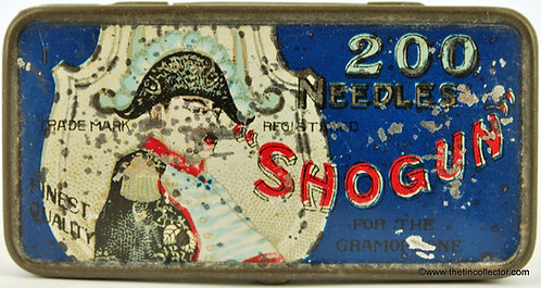SHOGUN Gramophone Needle Tin