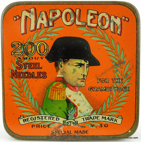NAPOLEON Gramophone Needle Tin (Orange Version)
