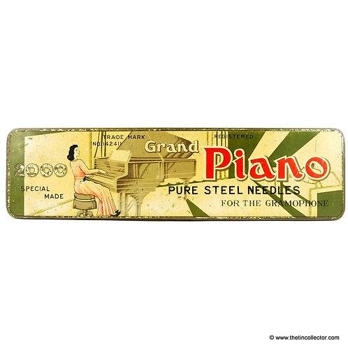 PIANO Gramophone Needle Tin (LARGE 2000 size)