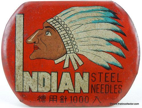 INDIAN Gramophone Needle Tin **LARGE 1000 SIZE**