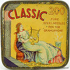 Parrot gramophone needle tins