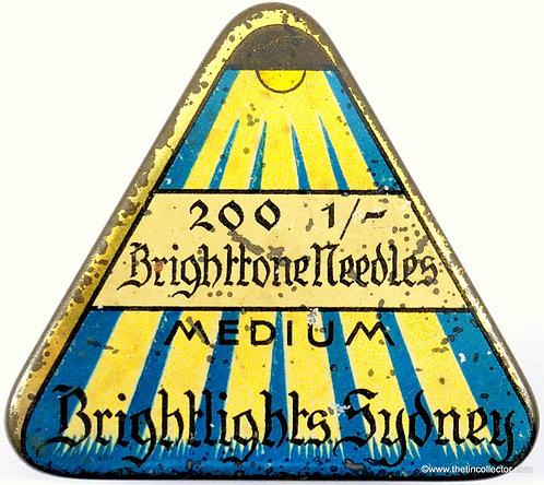 Rare BRIGHTTONE Gramophone Needle Tin (German)