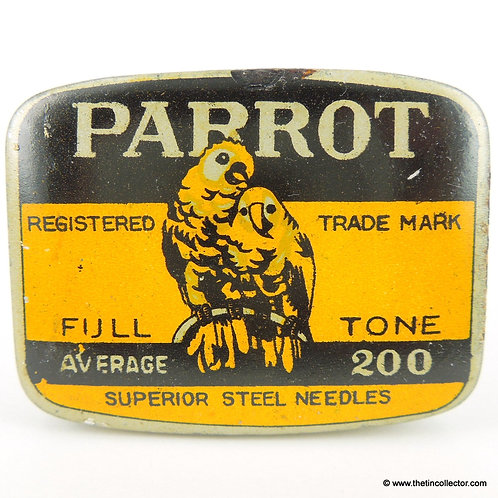 PARROT Gramophone Needle Tin - 200 size FULL TONE