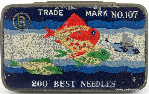 TRADE MARK No. 107 Gramophone Needle Tin