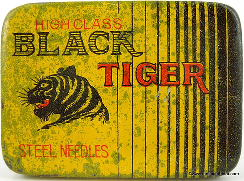 BLACK TIGER Gramophone Needle Tin