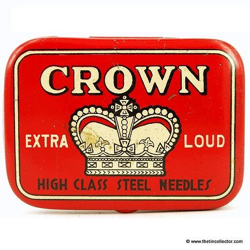 CROWN Gramophone Needle Tin