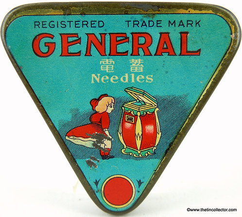 GENERAL Gramophone Needle Tin