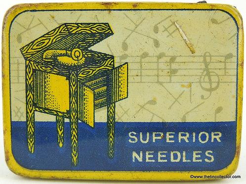 ANONYMOUS Gramophone Needle Tin - SUPERIOR NEEDLES