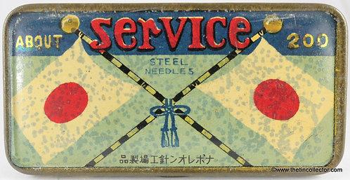 SERVICE Gramophone Needle Tin (WW1 Military)