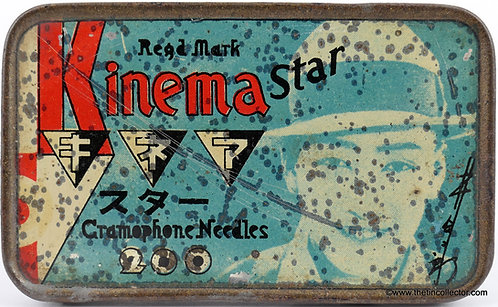 KINEMA STAR Gramophone Needle Tin