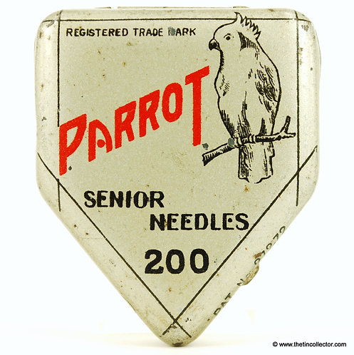 PARROT Gramophone Needle Tin (SHAPED)