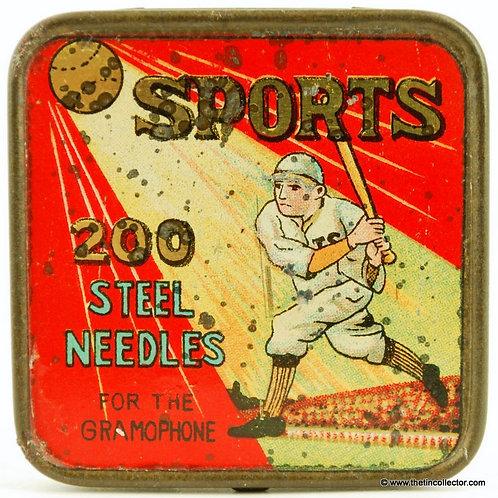 SPORTS Gramophone Needle Tin (Baseball)