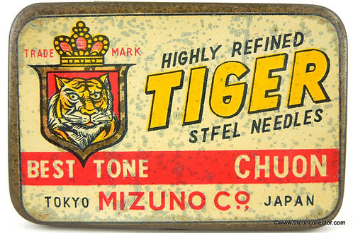 TIGER Gramophone Needle Tin