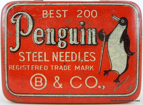 PENGUIN Gramophone Needle Tin