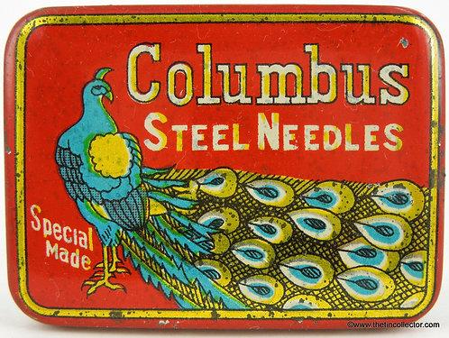 COLUMBUS Gramophone Needle Tin