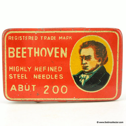 BEETHOVEN Gramophone Needle Tin - Red Version