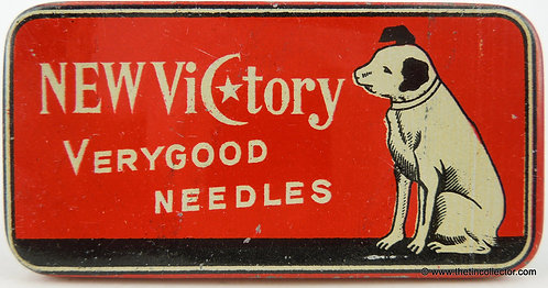NEW VICTORY Gramophone Needle Tin