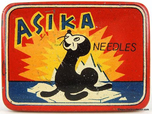 ASIKA Gramophone Needle Tin