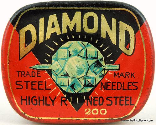 DIAMOND Gramophone Needle Tin