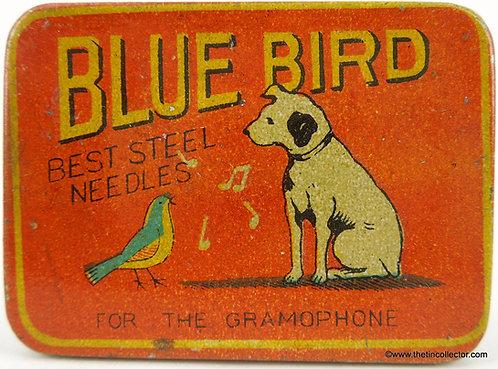 BLUE BIRD Gramophone Needle Tin